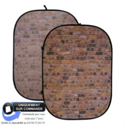 CARUBA OPVOUWBARE ACHTERGROND 150X200CM RED STONE