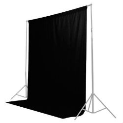 Fond studio photo noir 1,85x2,75m