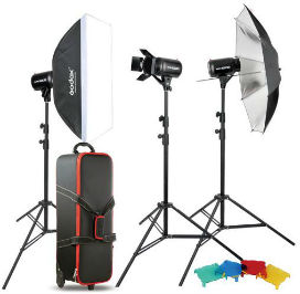 Kit 250w Godox Studio Kit E250-F (3flash)