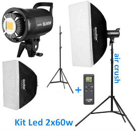 Godox SL60W LED video Duo Kit