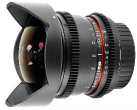 Samyang 8mm T3.8 Micro 4/3 Fish-eye CSII